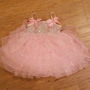 Weissman Pink Ballerina Dress First Birthday Photo